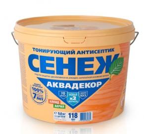 Сенеж Аквадекор №109 Орех  9 кг.
